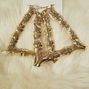 Jewelry - Bamboo Triangle Earrings